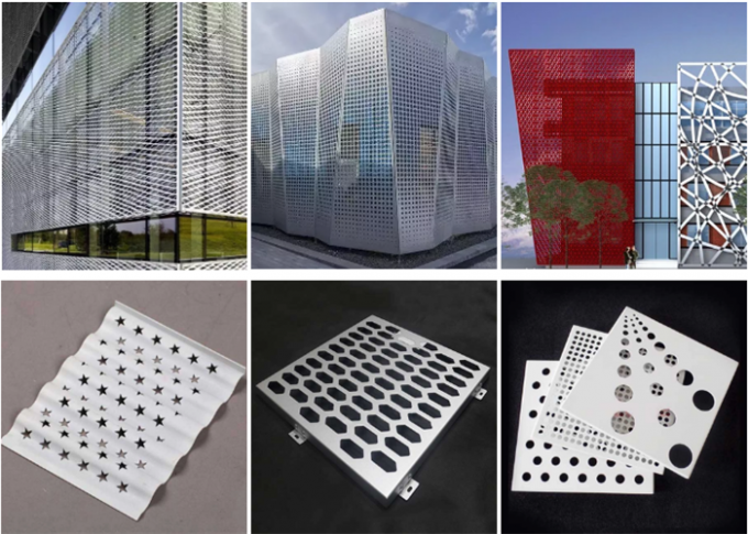 SGS 3 Mm Metal Perforated Sheet For Decoration 0
